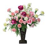【送料無料】ストックローズ (造花) 高さ77cm 光触媒 (12A200)