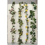 ローズガーランド ピンク (人工観葉植物) 長さ180cm 光触媒 (277A30)