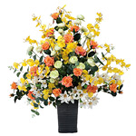【送料無料】アプリコット (造花) 高さ65cm 光触媒 (313A120)