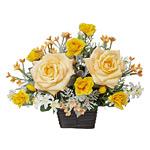 ダカールローズ (造花) 高さ26cm 光触媒 (325A50)