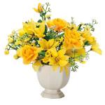 アレンジフラワー (造花) 高さ21cm 光触媒 (337A30)