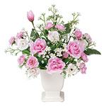 リトルローラ (造花) 高さ23cm 光触媒 (338A30)