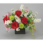 クイーンローズ (造花) 高さ39cm 光触媒 (39A80)