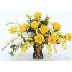 ツインゴールド (造花) 高さ43cm 光触媒 (42A80)
