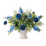 ツインブルー (造花) 高さ28cm 光触媒 (471A65)