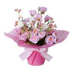 カップフラワー (造花) 高さ30cm 光触媒 (479A45)