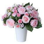 ブライダルピンク (造花) 高さ23cm 光触媒 (480A48)