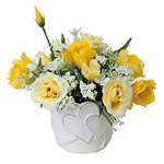アレンジフラワー (造花) 高さ16cm 光触媒 (485A30)