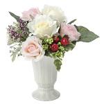 ツインローズ (造花) 高さ23cm 光触媒 (679A50)