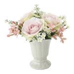 パールローズ (造花) 高さ19cm 光触媒 (696A38)