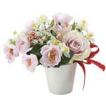 クロッカスローズ (造花) 高さ18cm 光触媒 (701A30)