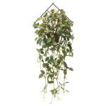 壁掛ローレル実付 (壁掛タイプ) (造花) 高さ67cm 光触媒 (739A55)