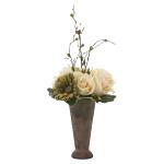 アースカラーローズ (造花) 高さ47cm 光触媒機能付 (763A35)