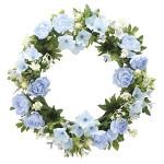 ローズリース ブルー (壁掛タイプ) (造花) 高さ28cm 光触媒 (767A30)