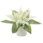 すずらん (造花) 高さ18cm 光触媒 (768A25)