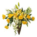 フランシスローズ (壁掛タイプ) (造花) 高さ50cm 光触媒 (84A70)