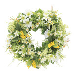 ミックスリースW (壁掛タイプ) (造花) 高さ30cm 光触媒 (853A45)