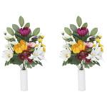 ご仏壇お供花 上仏花中2個セット 高さ33cm 光触媒 (854A40)