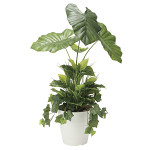 【送料無料】タロリーフ 植栽付 (人工観葉植物) 高さ90cm 光触媒 (873A170)