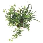 壁掛けミックスグリーン (壁掛タイプ) (造花) 高さ40cm 光触媒 (875A70)