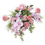 壁掛け胡蝶蘭 (造花) 高さ45cm 光触媒 (89A80)