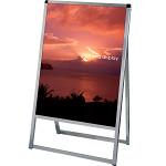 バリウススタンド看板 アルミ複合板タイプ 600×900 シルバー 片面タイプ (VASKAP-600X900K)
