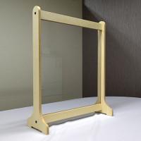 京都什器工場製造 飛沫防止対策木製パーテーション 通常タイプ 60cm幅 無塗装 (CMP-60721)