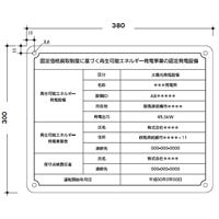 改正FIT法対応 太陽光発電施設用標識看板(関東積水樹脂製) 規格:タイプA (氏名欄1行)