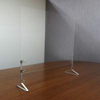 ストップ飛沫防止 支柱付きアクリル飛沫ガード 450×600 三角脚 (HB-B)