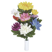 【2019年新商品】仏花菊2個セットN (造花) 高さ39cm ※光触媒ではありません (111A20N)