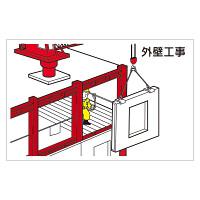 作業予定マグネット板 表記:外壁工事 (301-27)