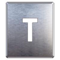 吹付け用アルファベットプレート 350×300 表示内容:T (349-34A)