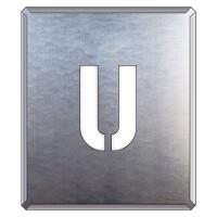 吹付け用アルファベットプレート 350×300 表示内容:U (349-35A)