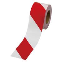 ストライプテープ 非粘着 赤/白 (374-113)
