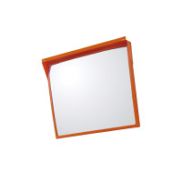 道路設置用角型カーブミラー アクリル製一面鏡 ミラーのみ ミラーサイズ:500×600mm (384-66)