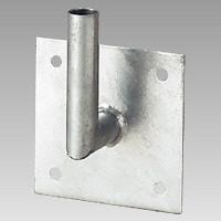 カーブミラー300mmφ専用 L型壁取付金具 (384-90)
