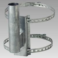 カーブミラー取付用金具 電柱取付金具 (384-94)