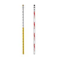 測量用品 アルミスタッフ サイズ:5m×3段 (388-55)