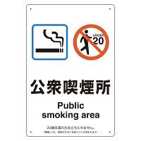 改正健康増進法対応 喫煙専用室 標識 公衆喫煙所 ボード(W200×H300) (803-241)