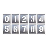 吹付け用プレート 0~9 (10枚1組) (819-35A)