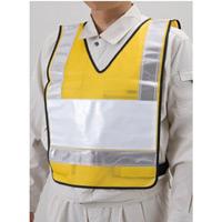 反射ベスト ポケット付 メッシュシート 色:黄/反射部白 (831-68)