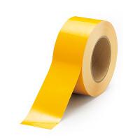 貼替え楽々 ユニフロアテープ 屋内床貼り用  再剥離タイプ 50mm幅 黄 (863-012)