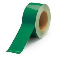 貼替え楽々 ユニフロアテープ 屋内床貼り用  再剥離タイプ 50mm幅 緑 (863-013)