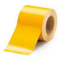 貼替え楽々 ユニフロアテープ 屋内床貼り用  再剥離タイプ 100mm幅 黄 (863-022)