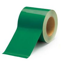 貼替え楽々 ユニフロアテープ 屋内床貼り用  再剥離タイプ 100mm幅 緑 (863-023)