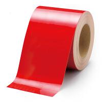 貼替え楽々 ユニフロアテープ 屋内床貼り用  再剥離タイプ 100mm幅 赤 (863-024)