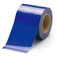 貼替え楽々 ユニフロアテープ 屋内床貼り用  再剥離タイプ 100mm幅 青 (863-025)