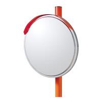 道路設置用カーブミラー ステンレス製一面鏡 ミラー・ポールセット ミラーサイズ:φ600mm (869-06)
