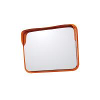 道路設置用角型カーブミラー ステンレス製一面鏡 ミラーのみ ミラーサイズ:450×600mm (869-34)