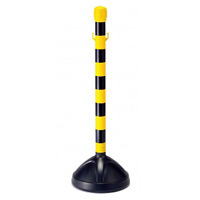 屋外用チェーンスタンド 高さ850mm カラー:黄/黒部反射 (870-33)